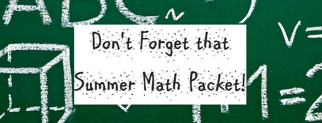 CATO - Summer Math Packet